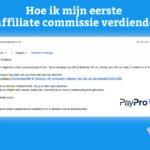 Hoe ik mijn eerste affiliate commissie verdiende via Paypro
