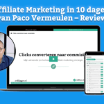 Affiliate Marketing in 10 dagen van Paco Vermeulen - Review