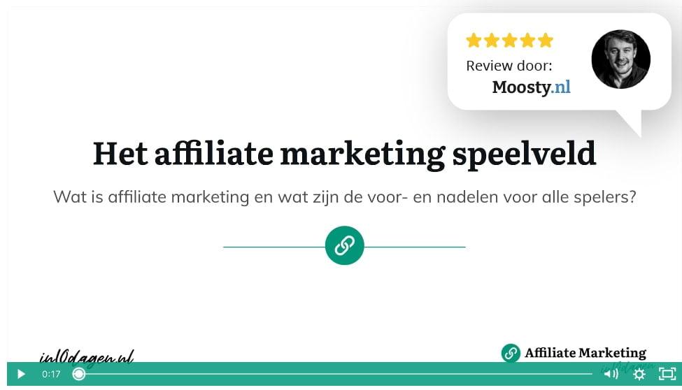 Het affiliate marketing speelveld - in 10 dagen