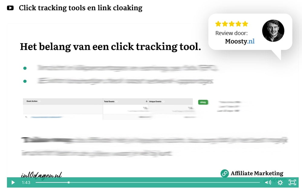 Click tracking tool